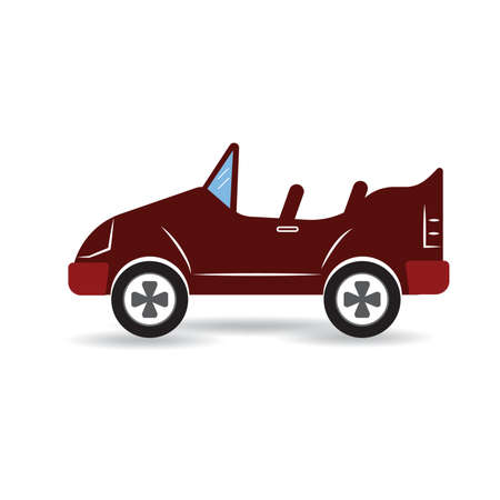 convertible car Illustration