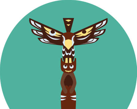 totem pole Illustration