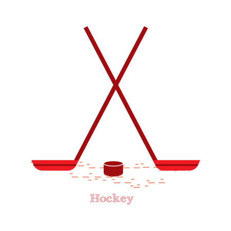 puck: ice hockey sticks and puck