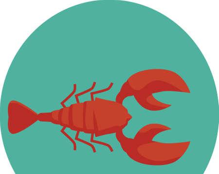 nova scotia lobster Stock Vector - 73847508