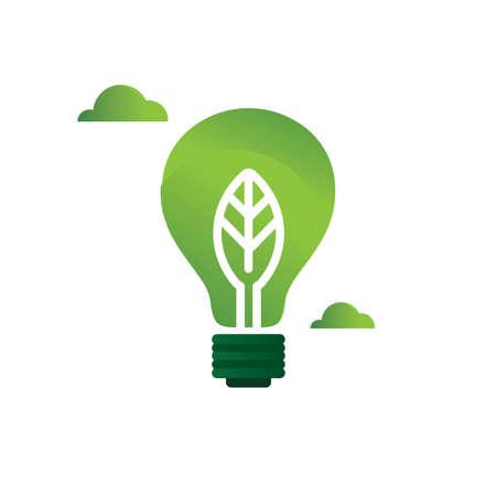 leaf in a light bulb Illustration