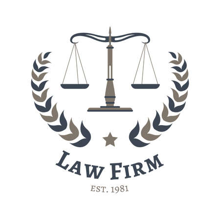 law firm design Illustration