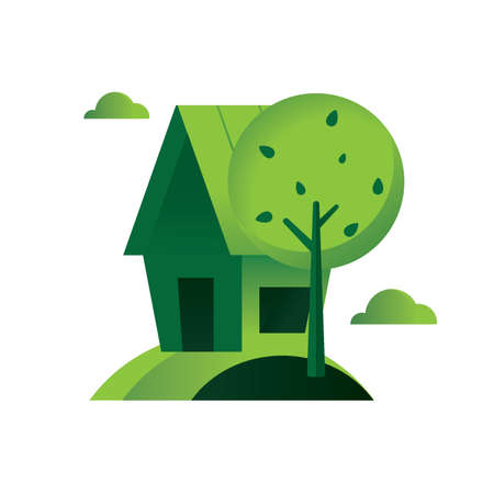 environmental awareness: House with a tree
