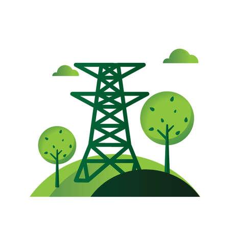 environmental awareness: Power transmission tower