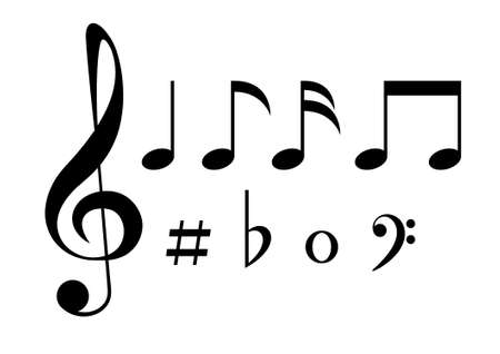 Set of musical note icons