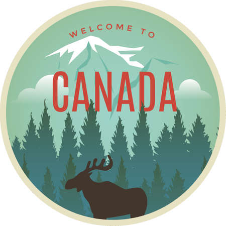 caribou: Welcome to Canada label design