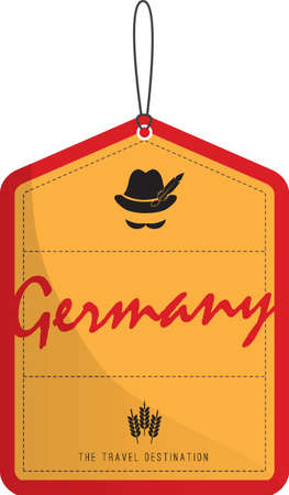 Germany tag Illustration