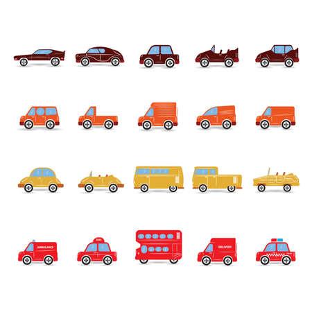 volkswagen: set of transportation icons Illustration