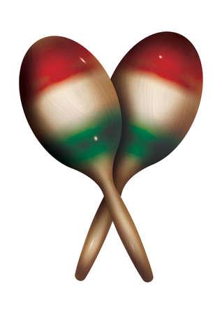 a pair of maracas Vector Illustration