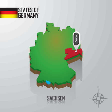 map of sachsen, germany