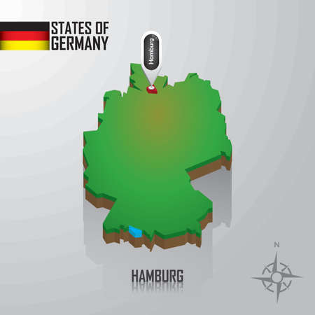 reference point: map of hamburg, germany