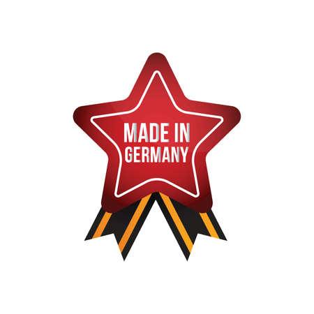 made in germany ribbon design Illustration