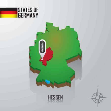 map of hessen, germany