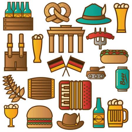 acordeon: Conjunto de iconos de alemania