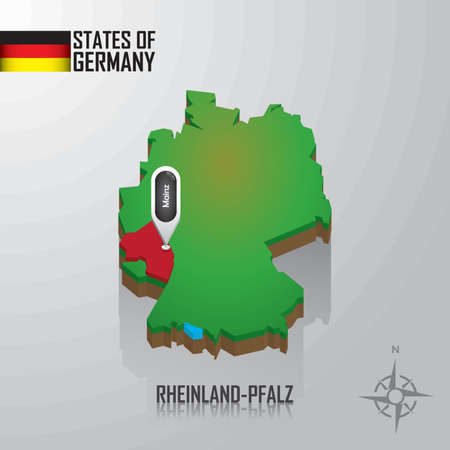 map of rheinland-pflaz, germany
