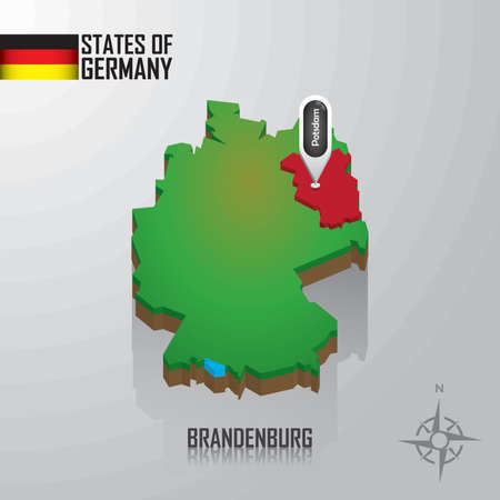 map of brandenburg, germany