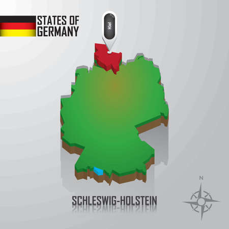 map of schleswig-holstein, germany