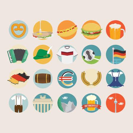 german sausage: Set of germany icons