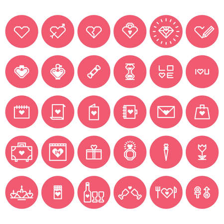 february 14th: set of valentines icon