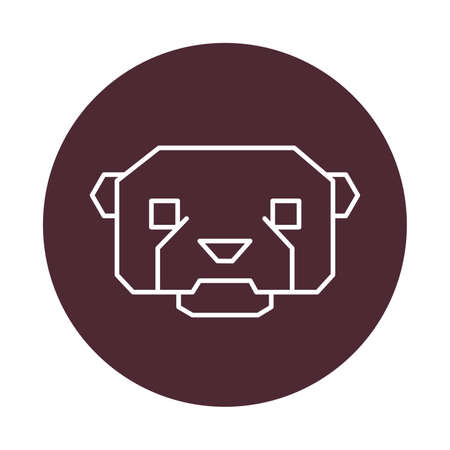 otter: otter head Illustration