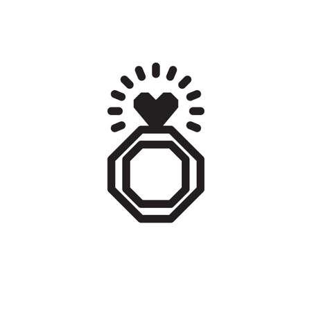 Heart ring Illustration