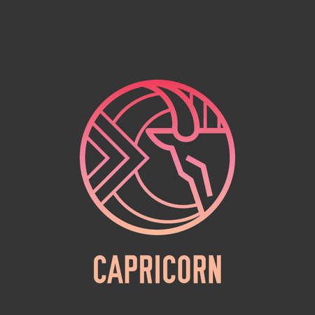 character traits: Capricorn Illustration