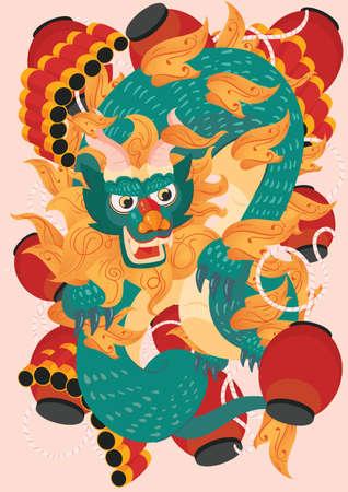 oriental dragon design