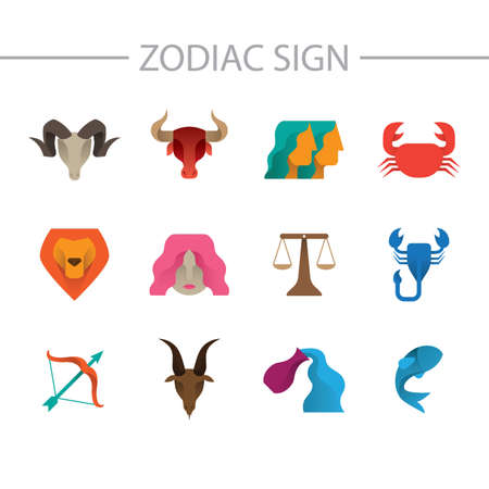set of horoscope icons Illustration