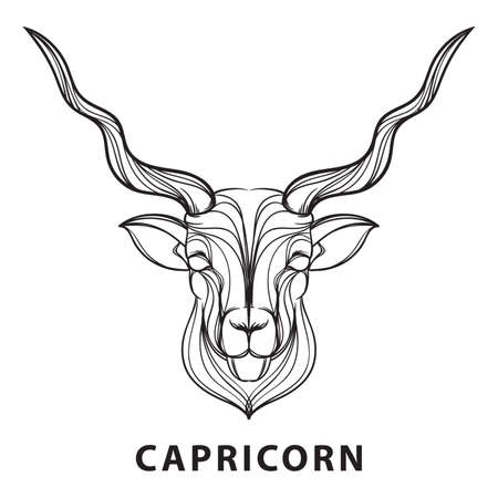 unique characteristics: Capricorn Illustration