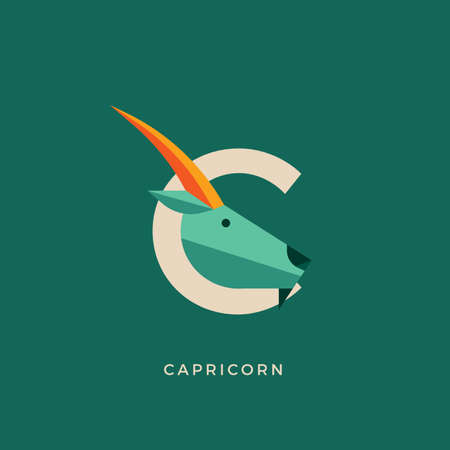 sea goat: Capricorn Illustration