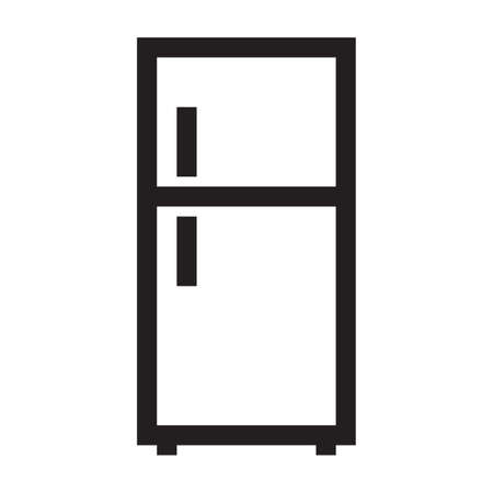 Refrigerator on a white background Illustration