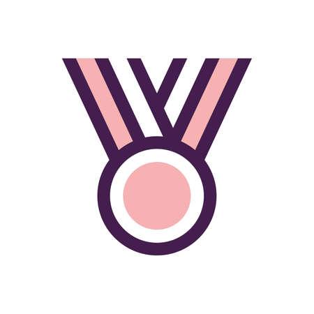 medaglia vincente Vettoriali