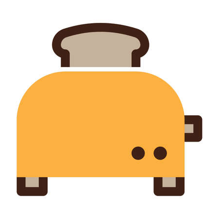 Toaster on a white background