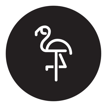 Flamingo on a black background Illustration