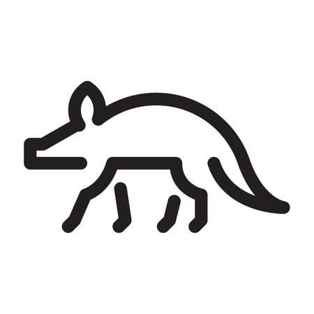 Aardvark on a white background Illustration