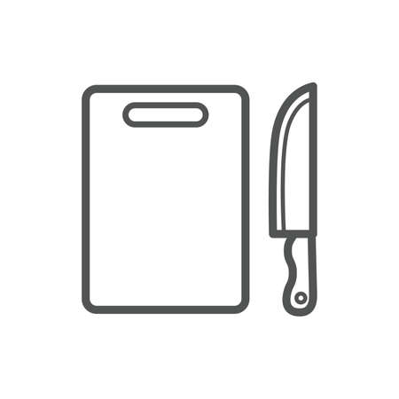 chopping board and kitchen knife