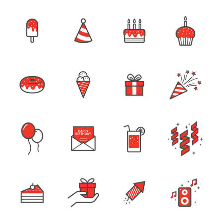set of party icons Illustration
