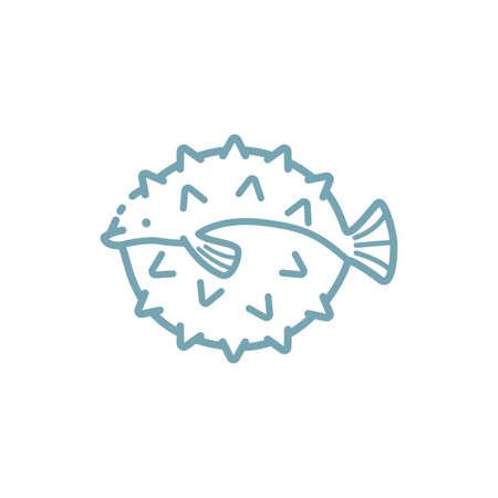 swell: pufferfish Illustration
