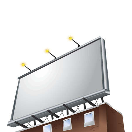 Billboard on a white background Illustration