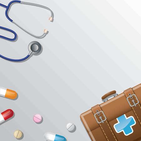 medical background design Illustration