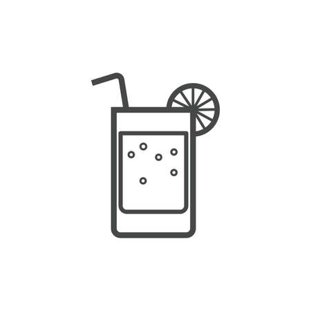 quench: glass of drink icon Illustration