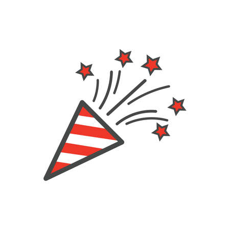 poppers: party popper icon