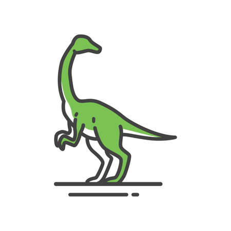 Gallimimus on a white background