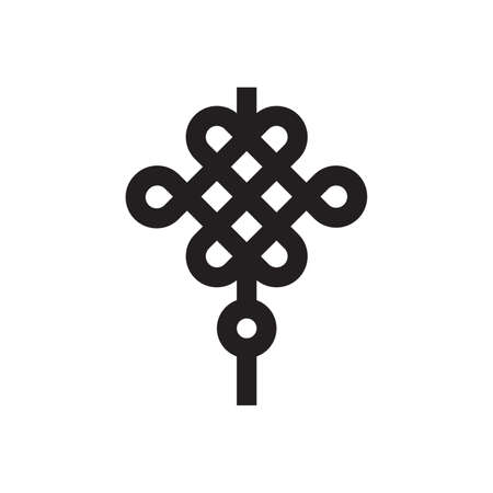 chinese knot decoration icon