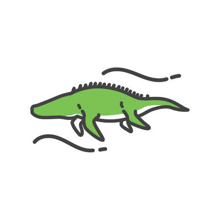 Mosasaur on a white background