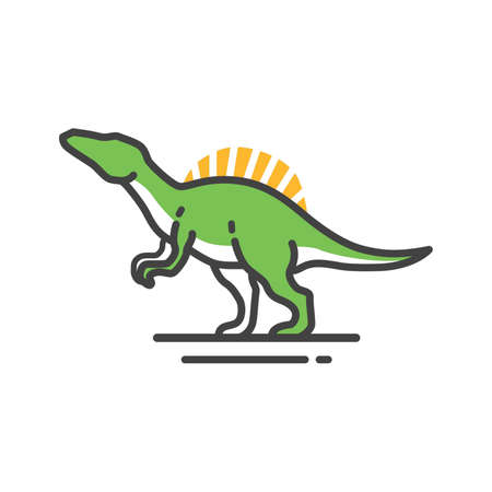 cretaceous: Spinosaurus on a white background