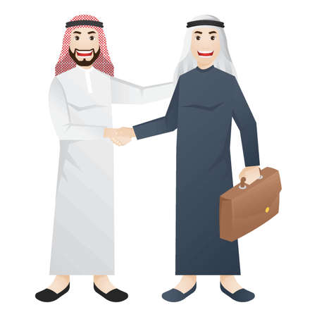 middle eastern businessmen Illustration