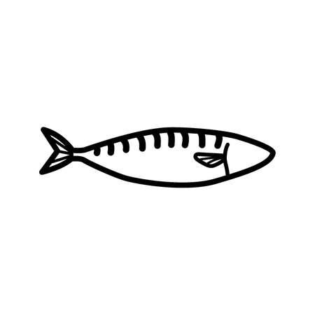 mackerel: mackerel fish Illustration