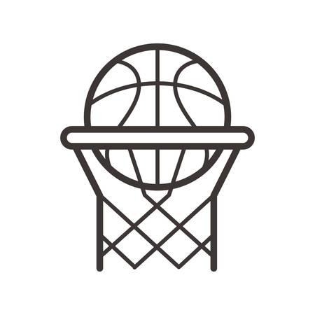filet de basket et cerceau