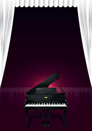 conception d'affiche piano à queue Vecteurs